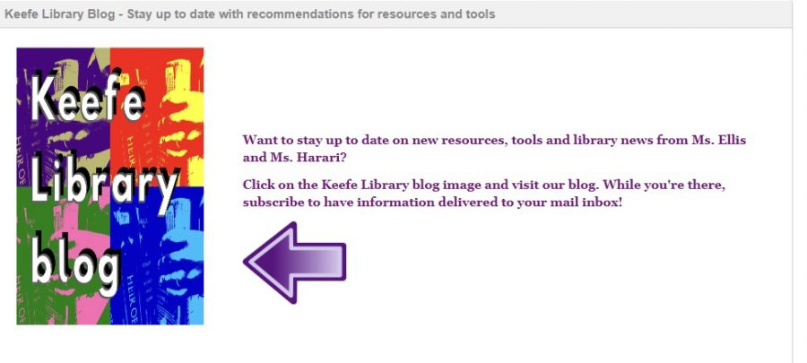 The Keefe Library Website introduces a new blog to us.