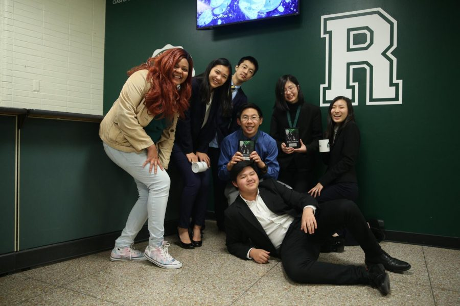 BLS debate shows off their awards at Ridge High School last year. (Photo by: Selina Tang (III))