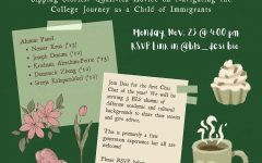 BLS Desi calls students to attend a meeting on navigating the college process as children of immigrants.  (Photo by: Katie Rouse (II))