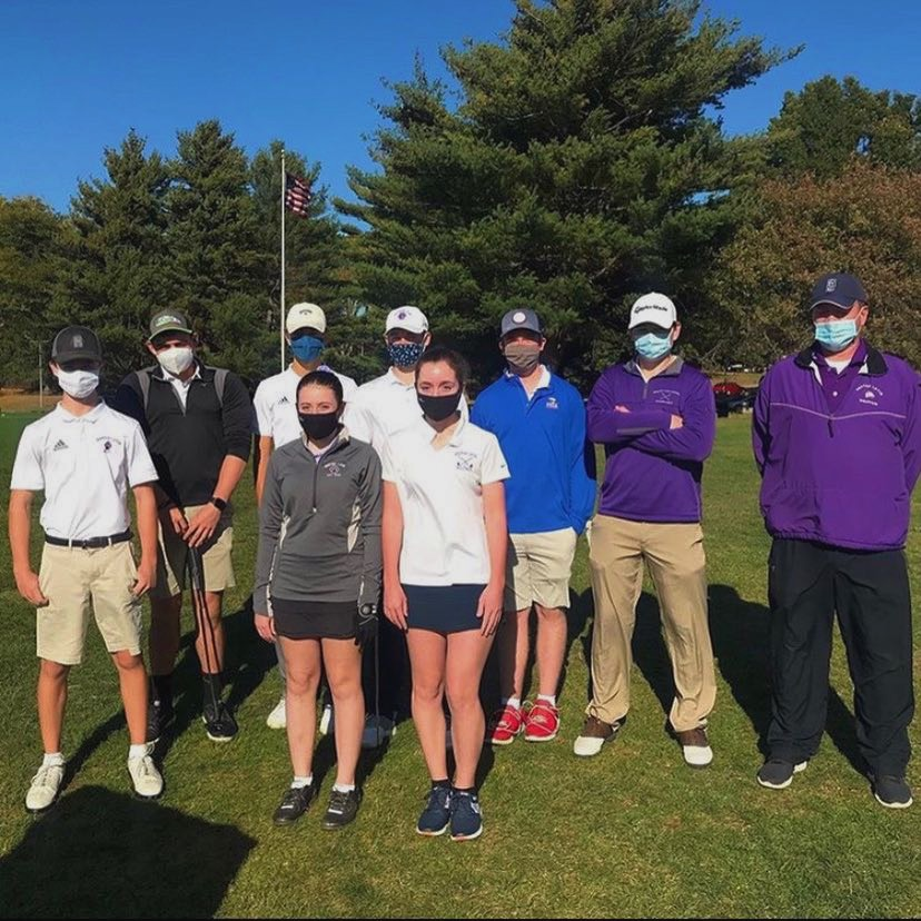 Co-ed+varsity+golf+team+wins+their+matches+against+Bedford+and+Waltham.