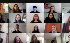 BLS Concert Choir rehearses for the Virtual Winter Arts Showcase.