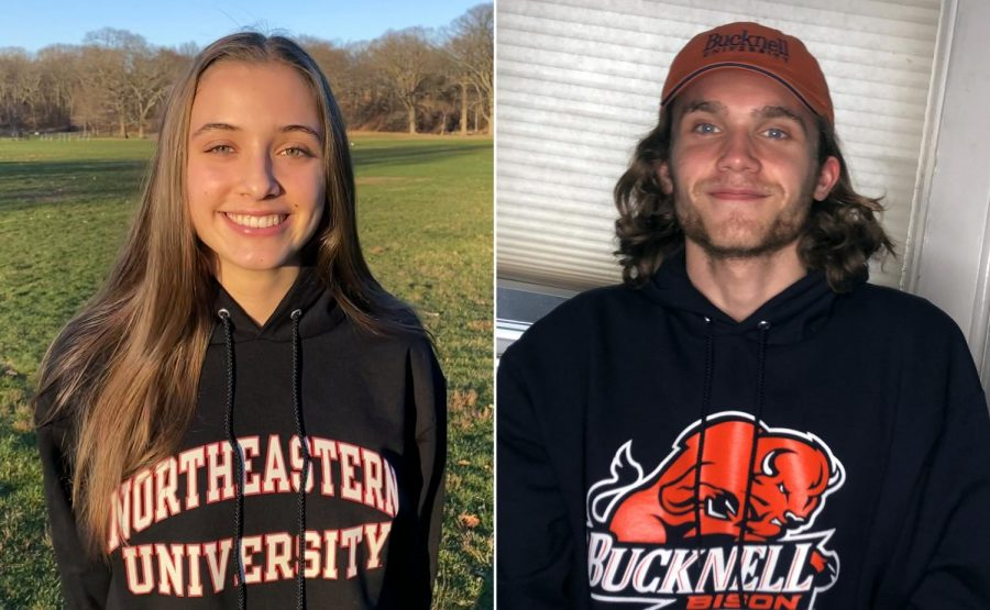 Lucy Abdow (left) (I) and Thomas White (right) (I) continues to lap others in track and field at their new schools