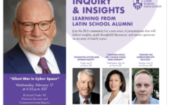 The first online speaker series took place February 17, with guest speaker Richard Clarke '68. (Photo by: Joanna Lin (IV))