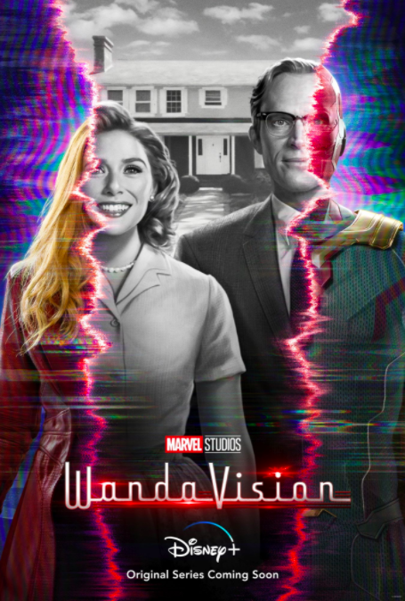 Wanda Vision stars Elizabeth Olsen as Wanda and Paul Bettany as Vision.