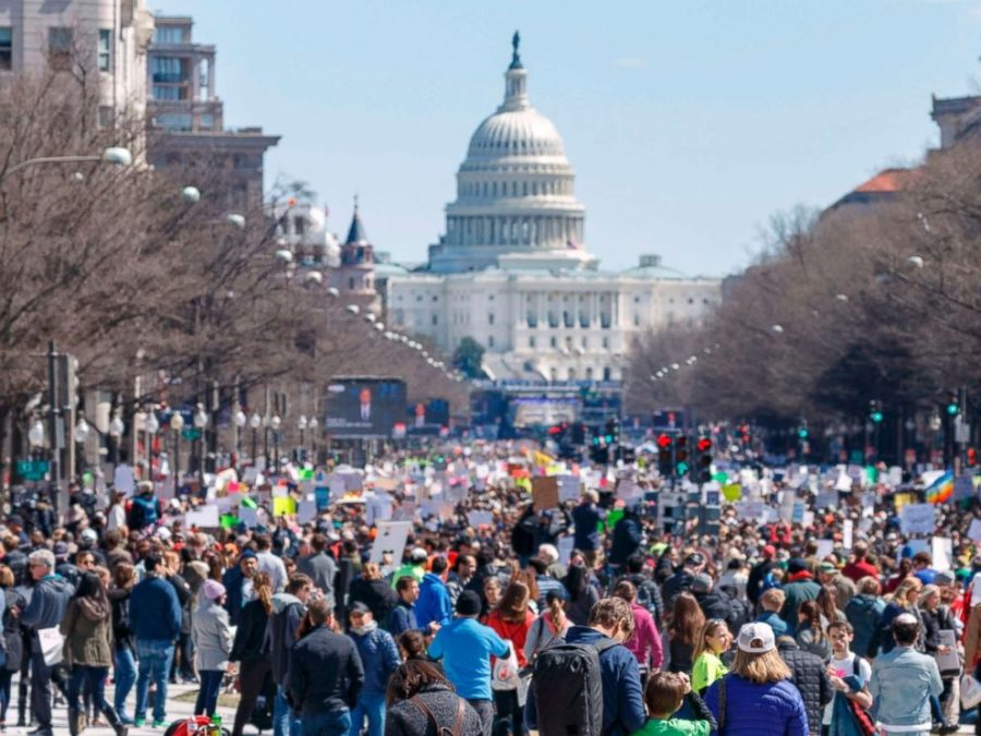 The March for Our Lives movement raises awareness about gun violence. (PC: Andrew Cabellero-Reynolds)