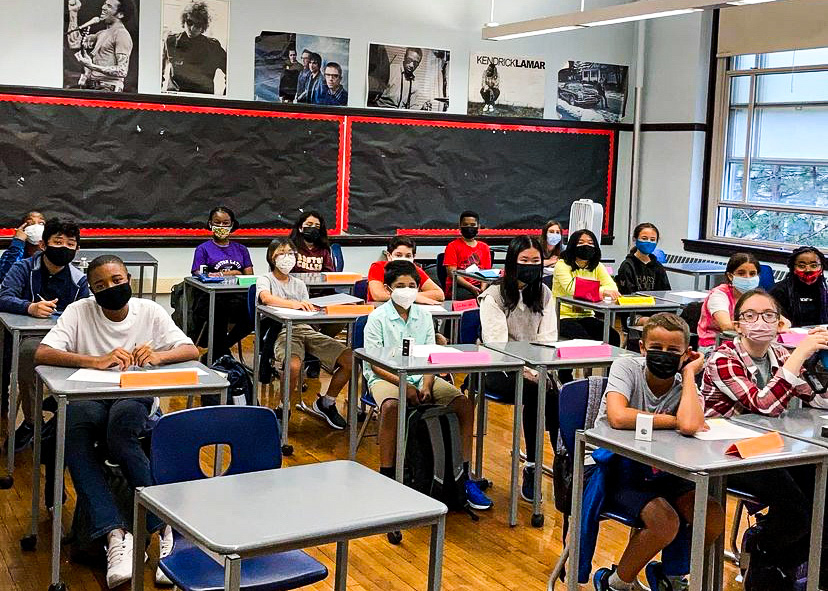 After an abnormal year of Zoom, students adjust to in-person learning. (Source: Rachel Skerritt)